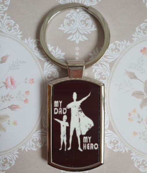Father's Day Metal Rectangle Key Ring Design 18